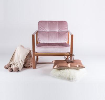 Fotel w stylu skandynawskim